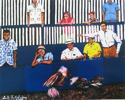 La Gallera Print by Luis F Rodriguez