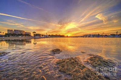 Marina Del Rey Photograph - La Sunrise  by Rob Hawkins