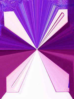 Use Of Language Digital Art - La Vie En Rose 17 by Rozita Fogelman