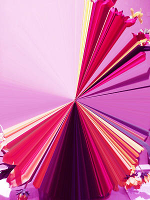 Visual Communication Digital Art - La Vie En Rose 18 by Rozita Fogelman