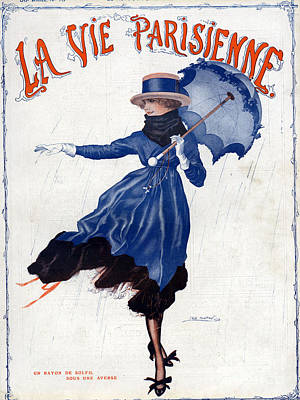 Nineteen-tens Drawing - La Vie Parisienne 1918 1910s France Leo by The Advertising Archives