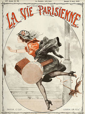 10s Drawing - La Vie Parisienne  1919 1910s France by The Advertising Archives