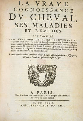 La Vraye Cognoissance Print by British Library
