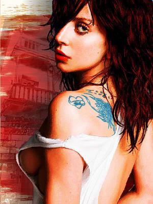 Lady Gaga Blue Tattoo Original by Tony Rubino
