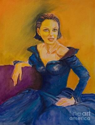 Dagmar Painting - Venetian Lady by Dagmar Helbig