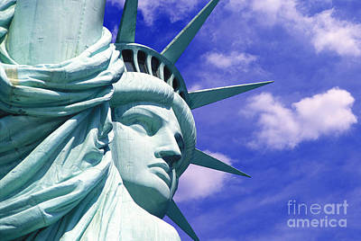 New York Mixed Media - Lady Liberty by Jon Neidert