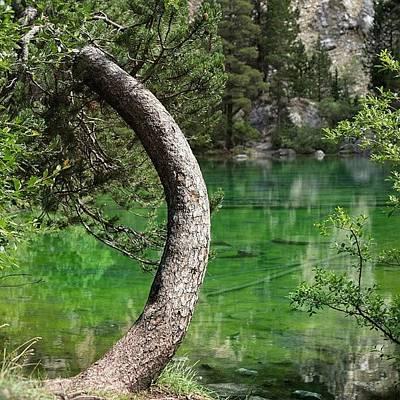 Mountain Photograph - Lago Verde by A Rey