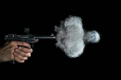 High Speed Photograph - Lahti Pistol Shot by Herra Kuulapaa � Precires