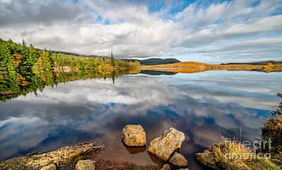 Lakes Digital Art - Lake Bodgynydd  by Adrian Evans