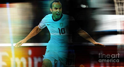 Landon Donovan Mixed Media - Landon Donovan by Marvin Blaine