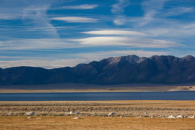 Crowley Lake Photograph - Landscape By A Lake Crowley With White by Panoramic Images