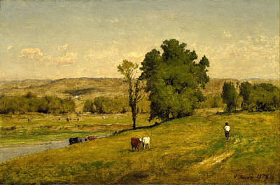George Inness Painting - Landscape by George Inness