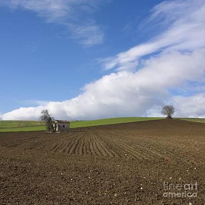 Trace Photograph - Landscape In France by Bernard Jaubert