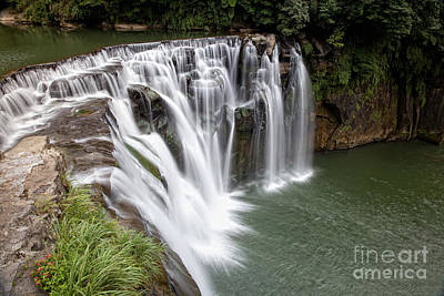 Landscape Shifen Waterfall In Taiwan Print by Fototrav Print