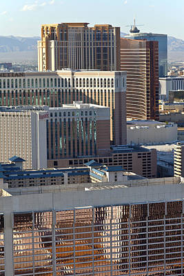 Las Vegas Casino Architecture And Rooftops. Original by Gino Rigucci