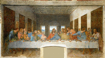 Smiling Jesus Painting - Last Supper by Leonardo Da Vinci