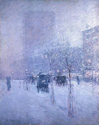 Childe Hassam Painting - Late Afternoon. New York. Winter by Childe Hassam