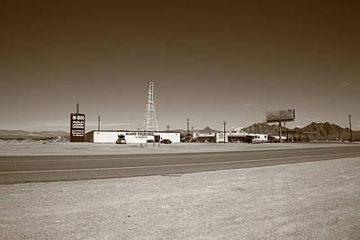 Fused Photograph - Lathrop Wells Nevada by Frank Romeo