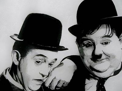 Laurel And Hardy Print by Catherine Davies