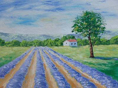 Lavender Field Original by Frederic Payet