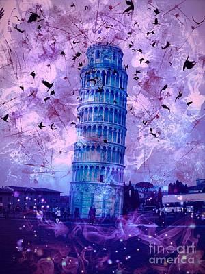Epic Digital Art - Leaning Tower Of Pisa 2 by Marina McLain