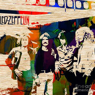Led Zeppelin Mixed Media - Led Zeppelin by Marvin Blaine
