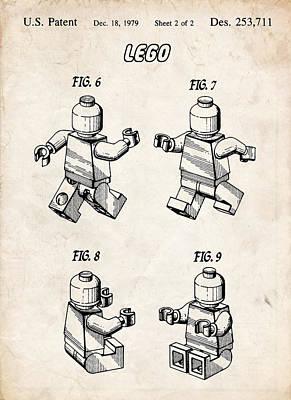 Lego Minifigure Patent Art Print by Stephen Chambers