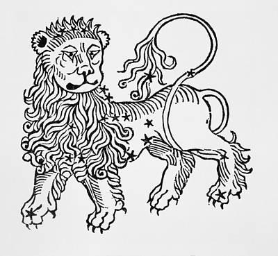 Signs Of The Zodiac Drawing - Leo by Italian School