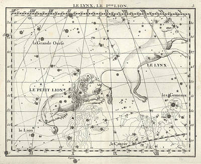 Photograph - Leo Minor And Lynx Constellations, 1729 by U.S. Naval Observatory Library