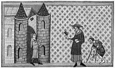 Leper House, C1220-1244 Print by Granger