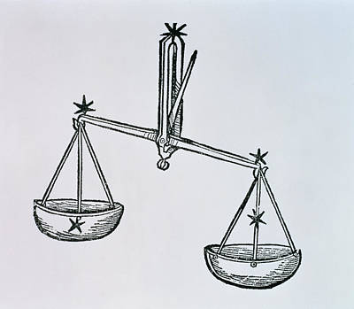 Signs Of The Zodiac Drawing - Libra by Italian School