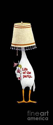 Life Of The Party... Print by Will Bullas