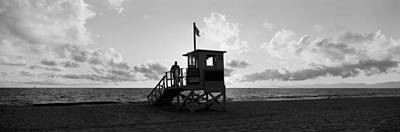 All-overs Photograph - Lifeguard Hut On The Beach, 22nd St by Panoramic Images