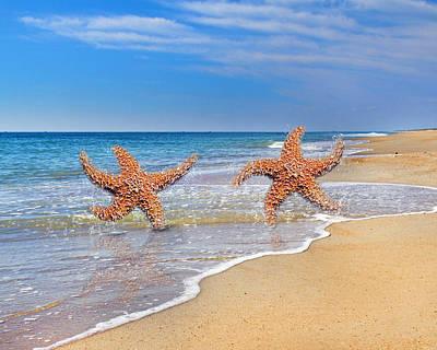 Life's A Beach Print by Betsy C Knapp