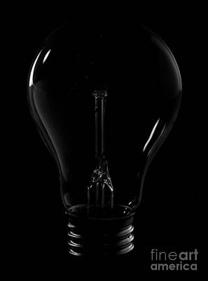 Light Bulb Print by Audrey Wilkie
