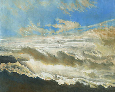 Sun Breaking Through Clouds Painting - Light Revealed by Helen White