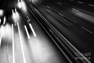 Trace Photograph - Light Trails by Carlos Caetano