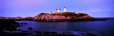 Lighthouse At A Coast, Nubble Print by Panoramic Images
