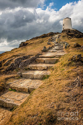 Anglesey Digital Art - Lighthouse Steps by Adrian Evans