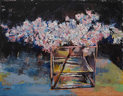Vase Painting - Lilacs by Michael Creese
