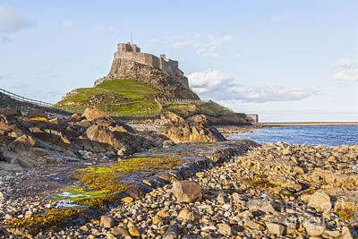 Lindisfarne Photograph - Lindisfarne Castle Northumberland England by Colin and Linda McKie