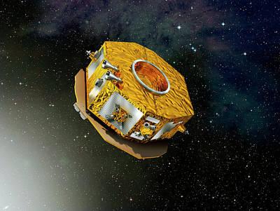 Lisa Pathfinder Space Probe Print by Esa-d. Ducros, 2010