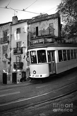 Streetcar Photograph - Lisbon Tram by Carlos Caetano