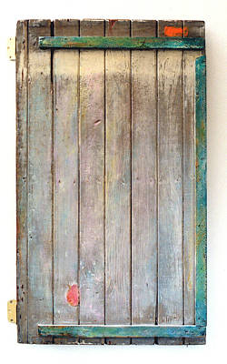 Little Painted Gate In Summer Colors  Print by Asha Carolyn Young