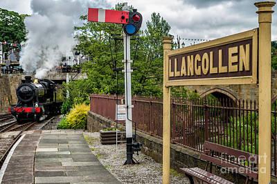 Train Photograph - Llangollen Railway Station by Adrian Evans