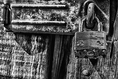 Lock And Latch Print by Thomas R Fletcher