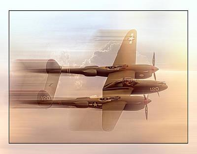 Oldzero Photograph - Lockheed P-38 Lightning by Steve Benefiel