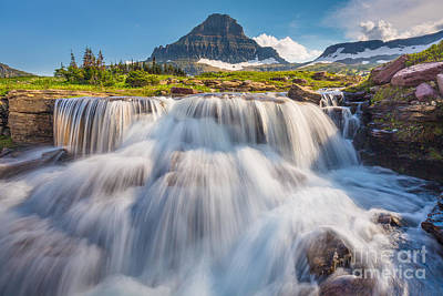 Logan Pass Cascades Print by Inge Johnsson