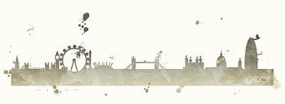 London Skyline Painting - London by Anna Quach