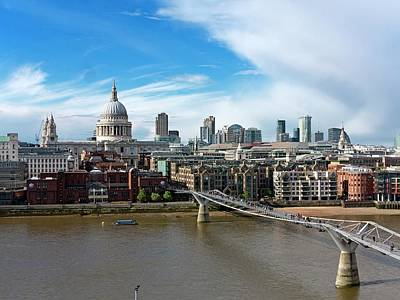 Clear Weather Photograph - London Skyline by Daniel Sambraus